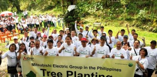 mitsubishi electric tree planting 2017 - world executives digest