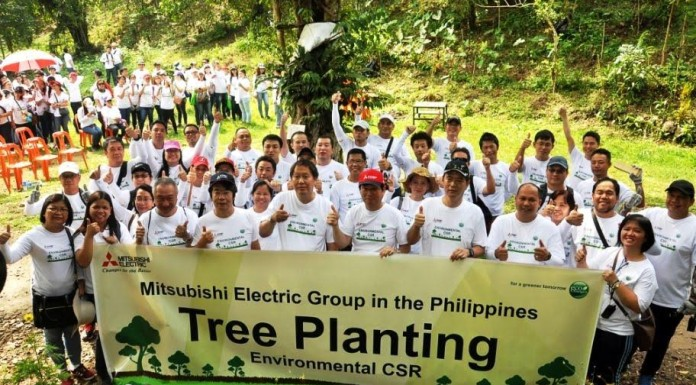 mitsubishi electric tree planting 2017 - world executives digest