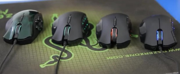 The pro gaming mice, Razr, take full advantage of IR tech. Source: https://upload.wikimedia.org/wikipedia/commons/f/f9/Collection_of_Razer_Nagas.jpg