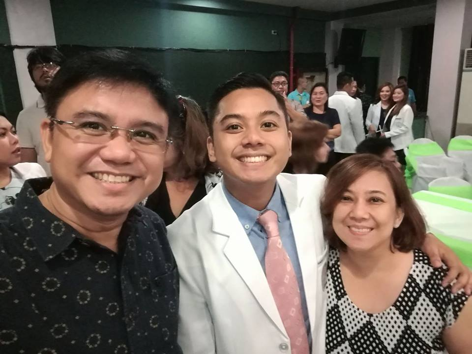 You will need all the support you can get, especially from your parents. (Dr. Nievera's parents, Homer and Jinky)