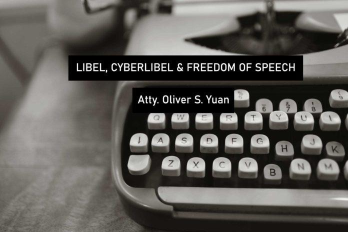 Oliver Yuan - Cyberlibel law